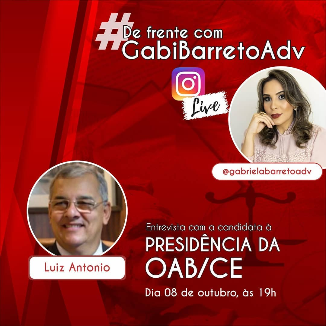 Entrevista com o candidato à Presidência da OAB/CE Luiz Antonio